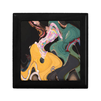 Russian dancers abstract gift box