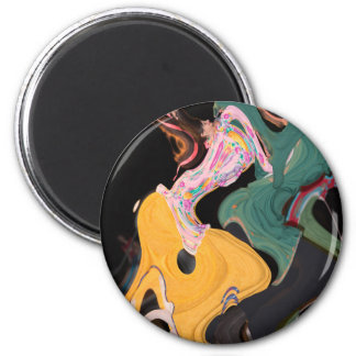 Russian dancers abstract magnet