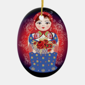"Russian Doll Christmas Ornament - ""Elena"""