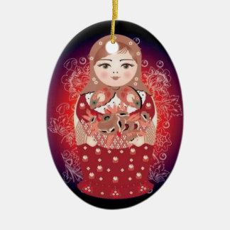 "Russian Doll Christmas Ornament- ""Ludmila"" Christmas Ornament"
