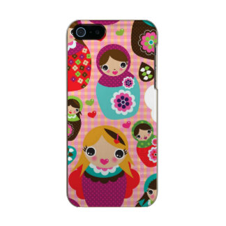 Russian doll illustration background incipio feather® shine iPhone 5 case