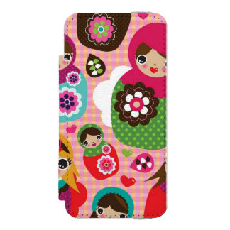 Russian doll illustration background incipio watson™ iPhone 5 wallet case