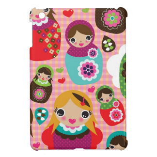 Russian doll illustration background iPad mini cover