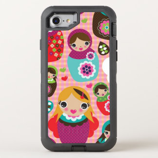 Russian doll illustration background OtterBox defender iPhone 8/7 case
