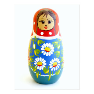 Russian Doll Postcard