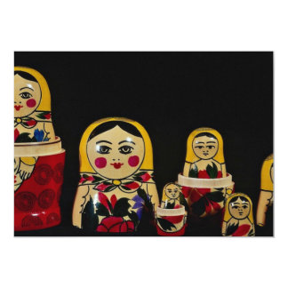 Russian doll set, traditional Russian wooden paint Announcement