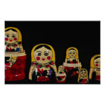 Russian doll set, traditional Russian wooden paint Print