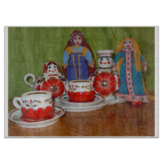 Russian Doll Tea Time Cutting Board