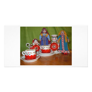 Russian Doll Tea Time Photo Card Template