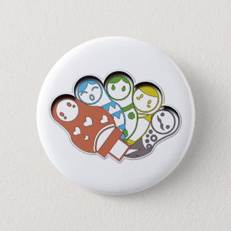 Russian Dolls | Colourful | Button