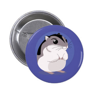 Russian Dwarf Hamster Cartoon 6 Cm Round Badge
