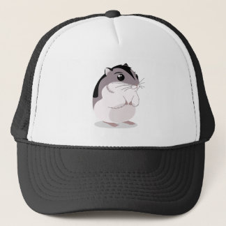 Russian Dwarf Hamster Cartoon Trucker Hat