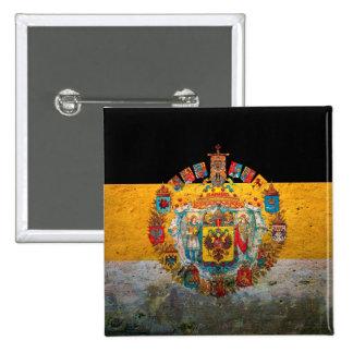 Russian Empire Flag 2 Inch Square Button