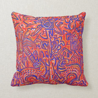 Russian Ethno Style American MoJo Pillow