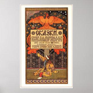 Russian Fairy Tails by Bilibin 1903 Print