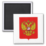 Russian Federation Coat of Arms Square Magnet