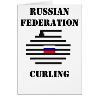 Russian Federation Curling Greeting Card