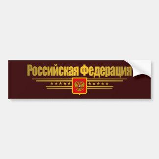 Russian Federation Flag & Emblem Bumper Sticker