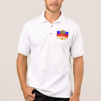 Russian Federation Flag & Emblem Polo T-shirts