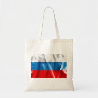 Russian Federation Flag Budget Tote Bag