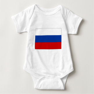 Russian Federation National Flag Baby Bodysuit