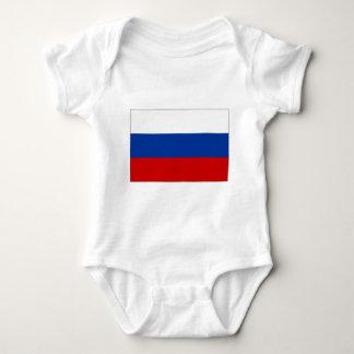 Russian Federation National Flag Baby Bodysuit