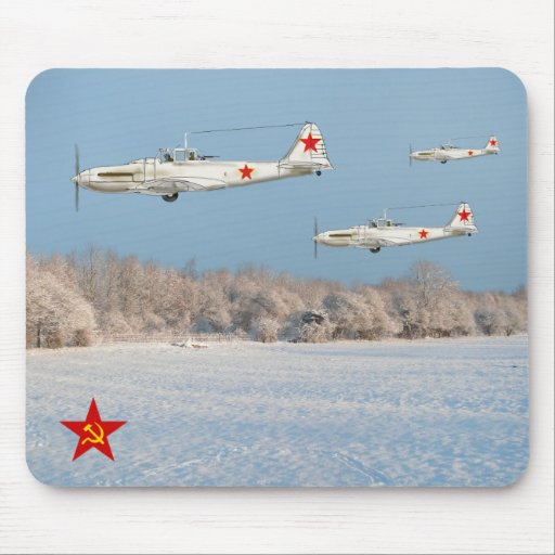 Russian Fighters Mouse Pad