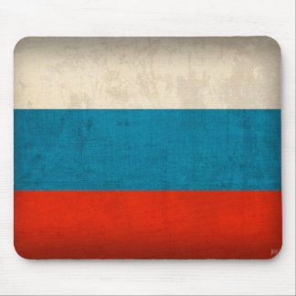Russian Flag Distressed Mousepad
