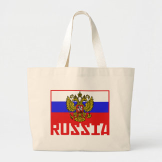 Russian Flag Large Tote Bag