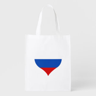 Russian Flag on a cloudy background Reusable Grocery Bags
