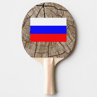Russian flag on tree bark