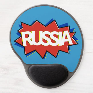 Russian flag star burst gel mouse pad
