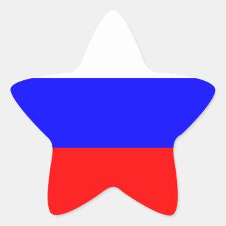 Russian Flag Star Sticker