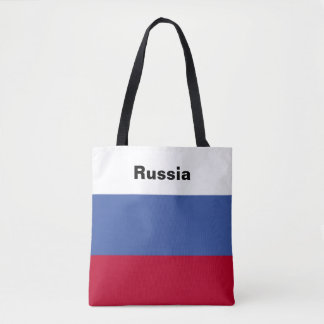 Russian Flag Tote Bag