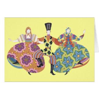 Russian Folk Dancers Card