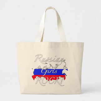 Russian Girls Rock! Large Tote Bag
