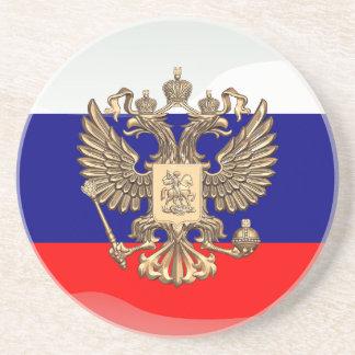 Russian glossy flag coaster