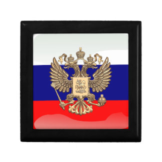Russian glossy flag gift box