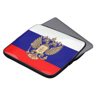Russian glossy flag laptop sleeve