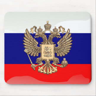 Russian glossy flag mouse pad