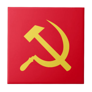 Russian Hammer and Sickle Ceramic Tile