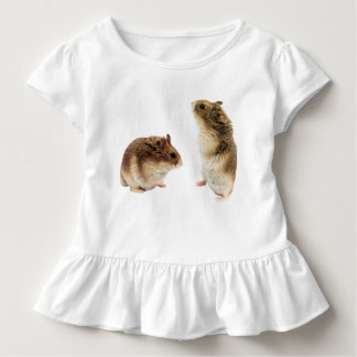 Russian Hamsters Toddler Ruffle Tee