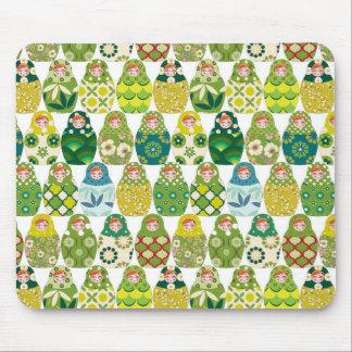 Russian headstock green mouse mat