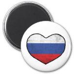 Russian Heart Fridge Magnet