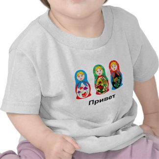 Russian Hello Goodbye T-shirts