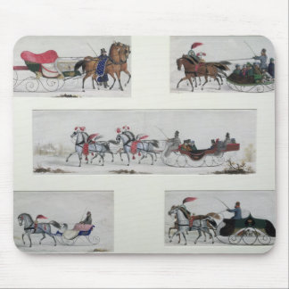 Russian Horse Drawn Sleighs Mouse Mat