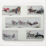 Russian Horse Drawn Sleighs Mouse Pad