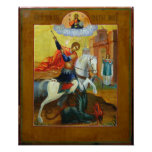 Russian Icon St. George and the Dragon