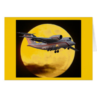 Russian Jet near the moon Stationery Note Card