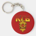 Russian KGB Badge Soviet Era Basic Round Button Key Ring
